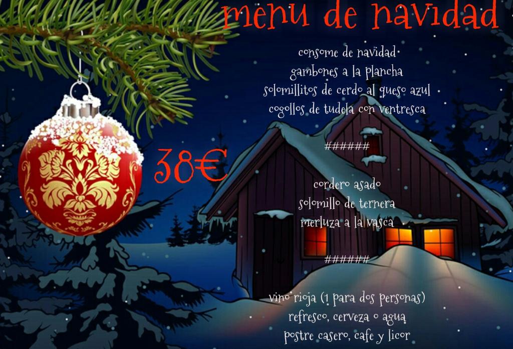Menú de Navidad 38€